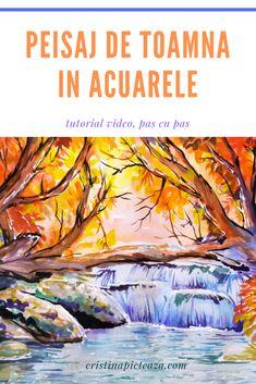 PEISAJ DE TOAMNA IN ACUARELA PE HARTIE Alba, Pdf, Painting, Painting Art, Paintings, Painted Canvas, Drawings
