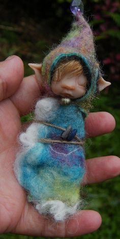 sweet babee cocoon ooak fairy fairie by throughthemagicdoor, $55.00