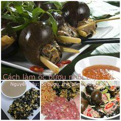Hướng dẫn làm món ốc bươu nhồi thịt tại nhà