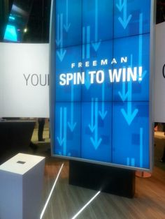 Raw video footage of how our Freeman wheel works. Spin to win!