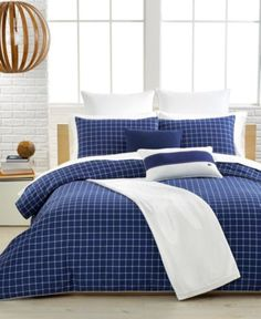Lacoste Denab Navy Comforter and Duvet Cover Sets - Bedding Collections - Bed & Bath - Macy's