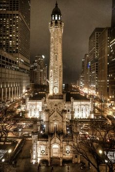 Chicago Architecture Photography - Water Tower