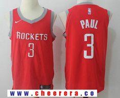 6e2e15becd8c Men s Houston Rockets Chris Paul New Red Nike Swingman Stitched NBA Jersey