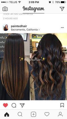 Best Ideas For Hair Ombre Brown Caramel Summer Waves hair 589760513685065211 Hair Color And Cut, Ombre Hair Color, Hair Colors, Hair Straightening Iron, Caramel Hair, Caramel Balayage, Brunette Hair, Blonde Hair, Dark Hair