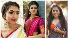 Saree hairstyles for medium hair Saree Hairstyles, Bandana Hairstyles, Indian Hairstyles, Wedding Hairstyles, Medium Long Hair, Medium Hair Styles, Short Hair Styles, Traditional Hairstyle, Classic Hairstyles