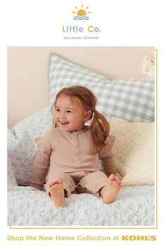Surround their childhood memories with cozy, modern, sustainable and ever-so-cute pieces for their space. Create the perfect canvas for bringing baby home, for having the first Tooth Fairy visit, for the upgrade to big bed and more! Little Co. by Lauren Conrad brings you a new home collection featuring whimsical and practical pieces for babies and kids. Shop home essentials like crib sheets, swaddles, comforters, throws, pillows and more at Kohl's and Kohls.com.