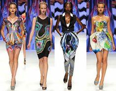 Basso & Brooke on the runway. Digital Prints Fall Trend 2012. #NMFallTrends