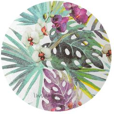 Gorgeous orchid print paper on a textured background. Reminiscent of a watercolour painting. A4 sheet.