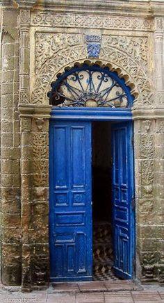Stunning blue door in Essaouira