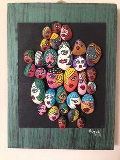Renkli suratlar-1 taş boyama - Duvar & İllüstrasyon 266443 | zet.com