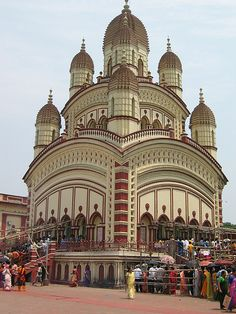 Kalighat Temple in Calcutta.
