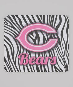 Take a look at this Zebra Chicago Bears Mouse Pad by Hunter on #zulily today!
