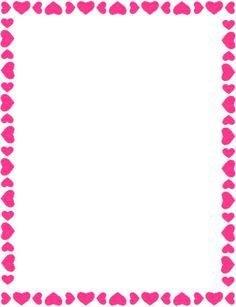 Bordes Decorativos: Bordes decorativos de corazones para imprimir