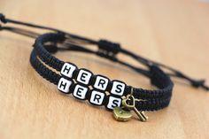 Couple Bracelets Hers Hers Bracelets Lock and Key Braclet Friendship CP-554 #Unbranded #CouplesBracelet