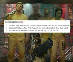 Guardians of the Galaxy text post