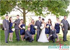 Wedding Party pose Southshore Centre wedding - Barrie Wedding photographers