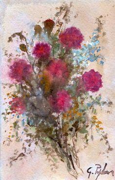 Fiori Rossi by Giovanni art Fire Art, Yoga Art, Watercolor Paintings, Watercolours, Painting Art, Christmas Art, Art Pictures, Unique Art, Flower Art