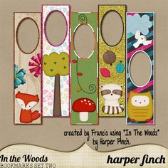FREE printable woodland animal bookmarks by Harper Finch: In the Woods