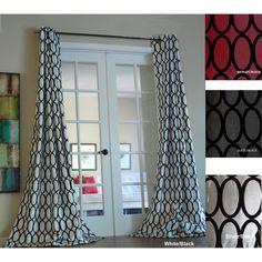 Pebbles Faux Silk Grommet Curtain Panel   Overstock.com
