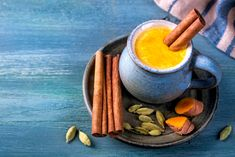 Photo about Golden milk, beverage with turmeric and spices. Image of ingredient, curcumin, ayurveda - 106515136 Turmeric Tea Benefits, Turmeric Milk, Ayurveda, Health Trends, Milk Recipes, Healthy Drinks, Healthy Life, Food And Drink, Stuffed Peppers