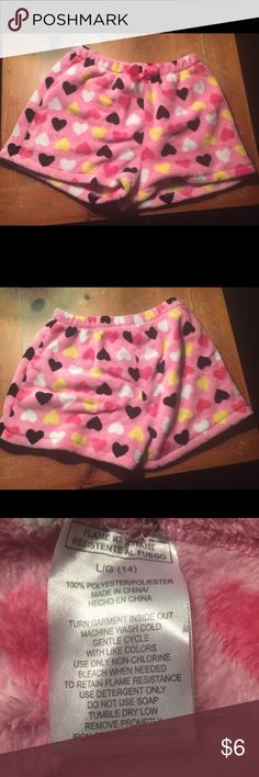 Super soft and fluffy oh shorts These are super soft and fluffy... Pj shorts worn a few times in great condition Pajamas Pajama Bottoms