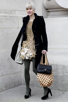 Paris Fashion Week Street Style Fall 2012: Photo: Greg Kessler