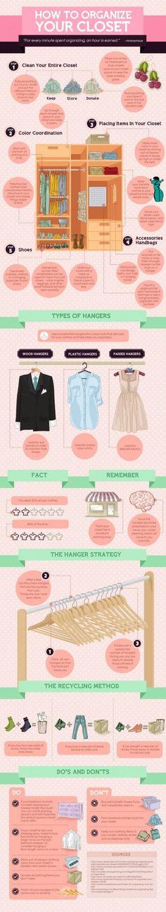 """Lär dig hur du organiserar din garderob för att enklare få en översikt och slippa känslan: """"så mycket kläder, men inget att klä på sig""""."""