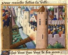 The siege of Rouen in 1419 (illustration from Vigiles de Charles VII). British Monarchy History, British History, Ancestry Tree, Big Battle, The Siege, Rouen, Medieval Times, Bnf, 15th Century