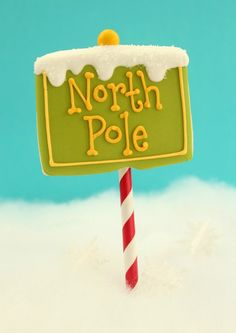 North Pole Cookie Pops