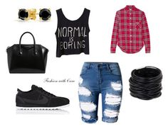 """""""Trendy Plaid"""" by fashionwithcare on Polyvore featuring Topshop, R13, Saachi, NIKE, Givenchy and Bling Jewelry"""