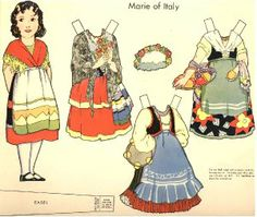 Dolls of Many Lands paper doll. Marie of Italy http://www.pinterest.com/sanchezgrant/paper-dolls/