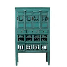 Blue Antique Apothecary Cabinet c.1860