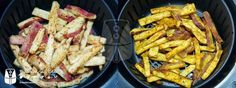 Batata Doce Rústica Frita na AirFryer | Fritadeira sem Óleo - AirFryer Batata Doce Air Fryer, Veggie Recipes, Cooking Recipes, Air Frier Recipes, Actifry, Easy Eat, Kung Pao Chicken, Carne, Chips