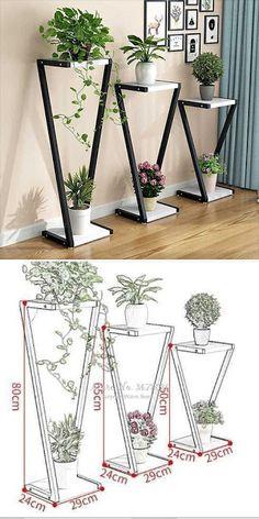 House Plants Decor, Plant Decor, Home Room Design, House Design, Decoration Plante, Diy Crafts For Home Decor, Deco Originale, Flower Stands, Plant Design