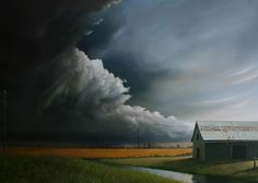 Oil painting by Andy Eccleshall -- Love the subject matter here!