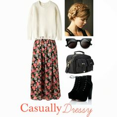 {quiet in spirit.} modest fashion Skirts w/ big sweaters are SO IN SEASON!