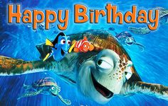 Hey, I found this really awesome Etsy listing at https://www.etsy.com/listing/243952508/disney-nemo-birthday-banner-with-turtle