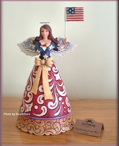 Heartwood Creek Patriotic Angel with Flag - via Ebay