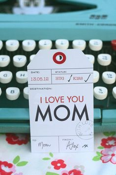 Printable Mother's Day gift tags by HelloClementine on Etsy, $3.00 - hint, hint!