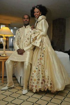Nigerian Bride and Groom. Beautiful and Kingly attire.