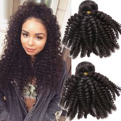 "10""-30"" 3Bundles 150g Black Brazilian Kniky Curly Hair Extension Haar Wefts #WIGISS #HairExtension"