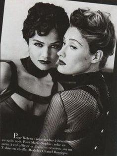 Vogue FR - Marie-Sophie Wilson & Helena Christensen - Montmartre - 1991