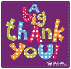 Usborne Books & More Thank You Graphic
