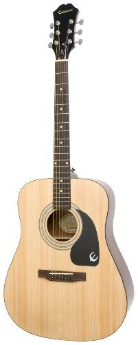 Epiphone DR-100 Acoustic Guitar, Natural - http://www.learntab.com/guitar-deals/epiphone-dr-100-acoustic-guitar-natural/