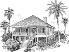beach cottage plans | Collier Cove Beach Cottage Home Plan 024D-0003 | House Plans and More