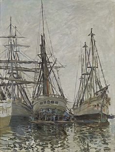 Claude Monet - Boats in a Harbour c1873