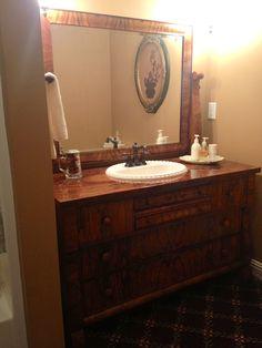 Best Refurbished Bathroom Vanity Images On Pinterest Bathroom - Refurbished bathroom vanity