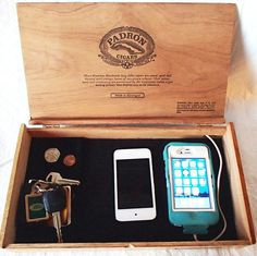 Mans Valet Charging Station - Mans Valet, Mens Jewelry Box Iphone, Ipod, Smart…