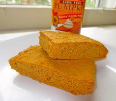 Keto Pumpkin Protein Bars Recipe and Nutrition - Eat This Much Protein Bar Recipes, Protein Powder Recipes, Protein Snacks, Protein Desserts, Keto Snacks, Pumpkin Protein Bars, Pumpkin Bars, Pumpkin Puree, Healthy Pumpkin
