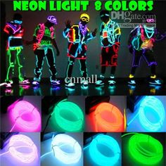 Wholesale LED Neon Sign - Buy Flexible Glow Neon Light Waterproof EL Wire Rope Tube 3M Muti Color Party Decoration Halloween Xmas Light, $6....